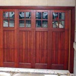 San Clemente Mahogany garage door picture