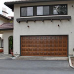 Model 125 stain grade garage door picture