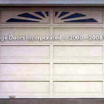 Sunburst garage door picture